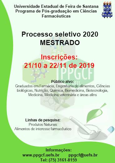 EDITAL SELEÇÃO 2020